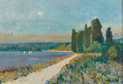 Albert MALLET (1905-1986)  Trois voiliers...