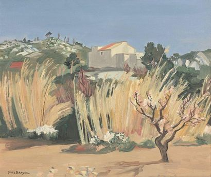 Yves BRAYER (1907-1990)  Les Roseaux au printemps...