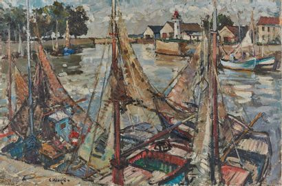 Constantin KLUGE (1912-2003)  Le Port  Toile...