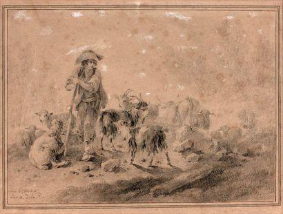 Jean PILLEMENT (1728-1808)  Berger, bergère...