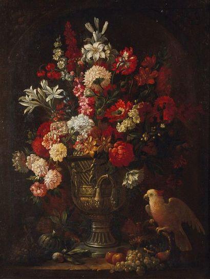 D'après Jean-Baptiste MONNOYER  Bouquet de...