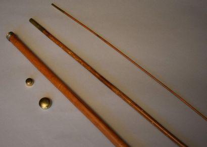 Canne de pêche à sytème en bambou, 3 scions....