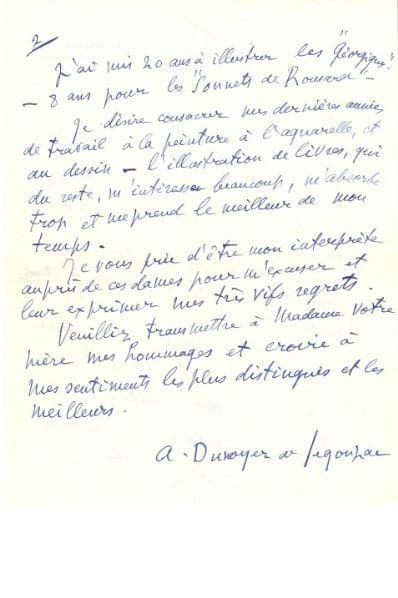André DUNOYER DE SEGONZAC (1884-1974) peintre....