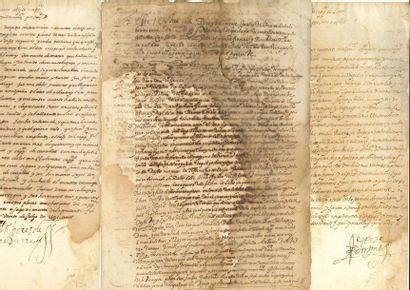 ESPAGNE. 42 lettres ou pièces, 1571-1663...
