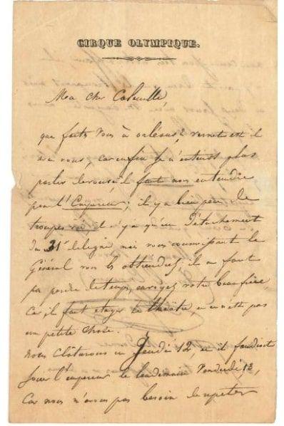 Adolphe FRANCONI (1801-1855) écuyer, directeur...