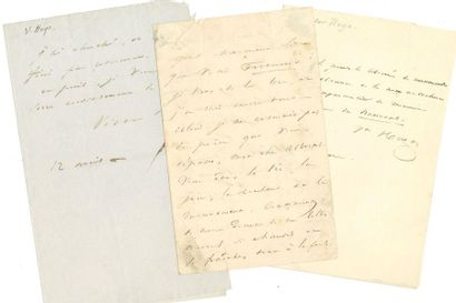 Victor HUGO (1802-1885). 4 L.A.S. (2 signées...