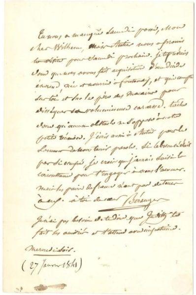 LITTÉRATURE. 4 L.A.S et un manuscrit a.s....
