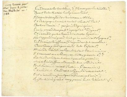 [LOUIS XVI (1754-1793)]. Manuscrit, [1788]...