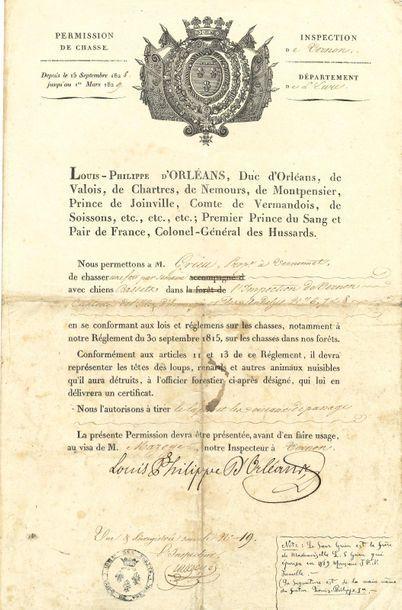 LOUIS-PHILIPPE (1773-1850). P.S. « Louis-Philippe...