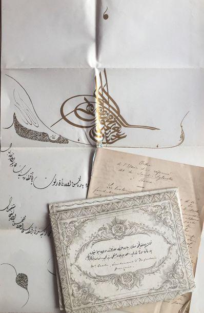 ORDRES DE CHEVALERIE. 4 documents et 2 manuscrits,...