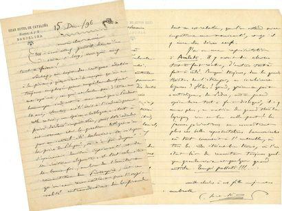 Camille SAINT-SAËNS (1835-1921). 2 L.A.S.,...