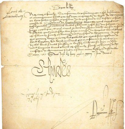 CHARLES VIII (1470-1498) Roi de France. L.S....