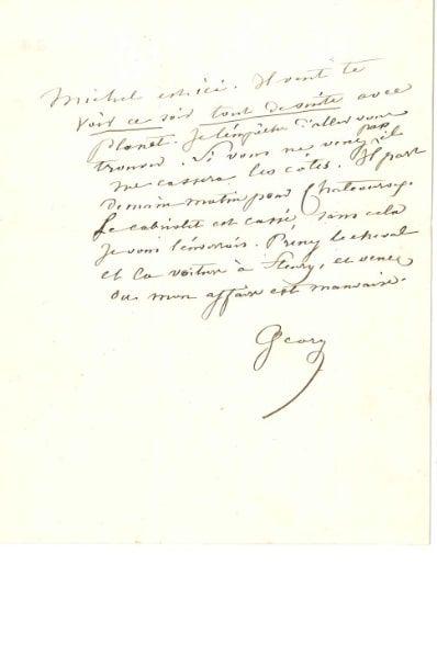George SAND (1804-1876). L.A.S. « George...