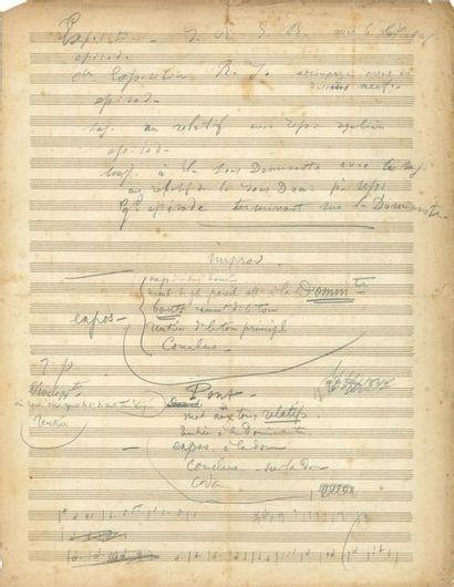 César FRANCK (1822-1890). Manuscrit autographe...