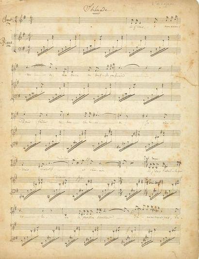 Henri DUPARC. MANUSCRIT MUSICAL autographe...
