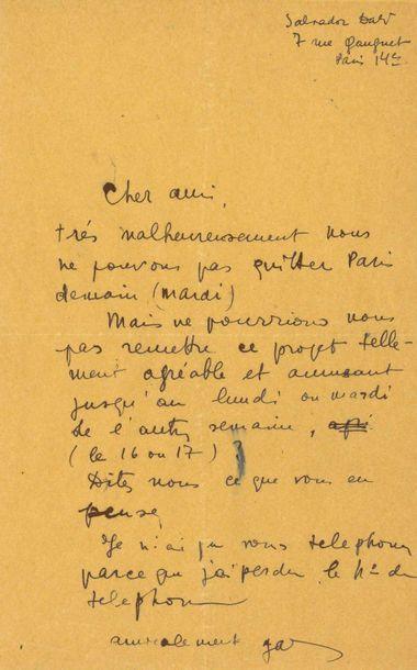 Gala DALI (1894-1982). L.A.S. « Gala », [vers...