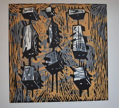 LOLO THOMAS : Composition. Six estampes en...