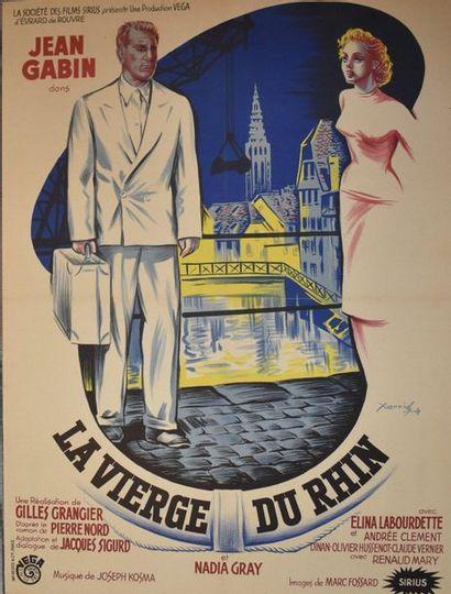 AFFICHE DU FILM La Vierge du Rhin. Papier...