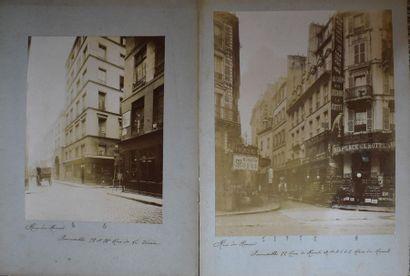 DEUX PHOTOS EN N/B : Rue du Renard à Paris,...