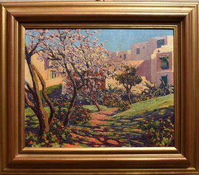 André DELACROIX (1878-1934) : Jardin à Sidi...
