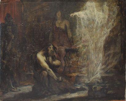 ECOLE FRANÇAISE du XIXe siècle : Le Songe...