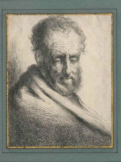 DEUX GRAVURES d'après Rembrandt ou divers...