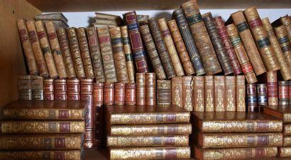 LOT de livres en reliure ancienne, principalement...