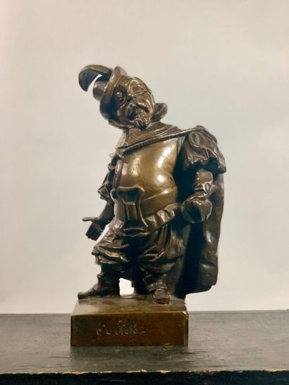 Statue en bronze figurant le comédien Guillot....