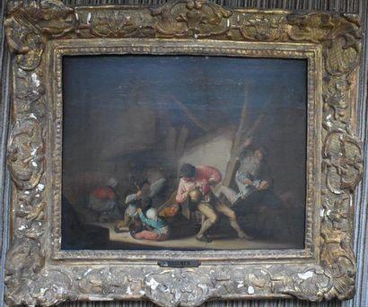 ECOLE HOLLANDAISE de la fin du XVIIe siècle,...