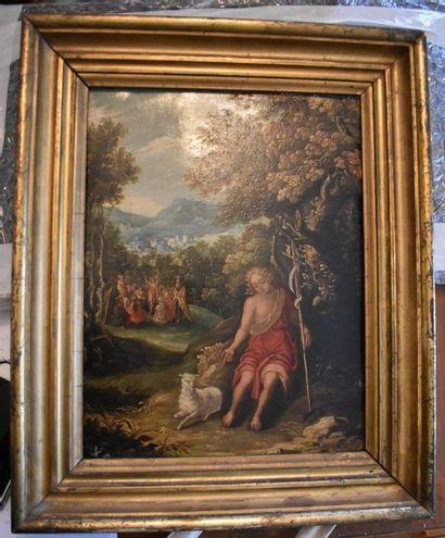 ECOLE FLAMANDE du XVIIIe siècle : Saint Jean...