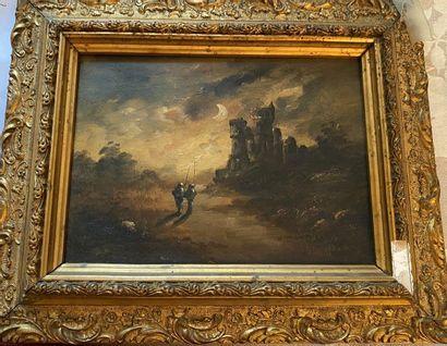 ECOLE FRANÇAISE du XIXe siècle : Paysage...