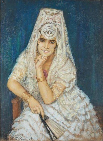 Marie-Aimée COUTANT (1890-1947) : Sévillane...