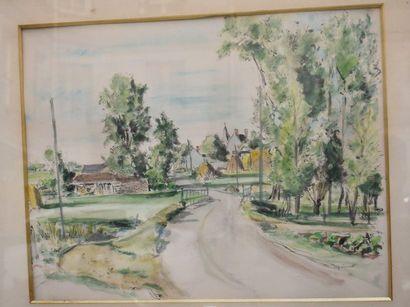 André DIGNIMONT (1891-1965) : Entrée du village....