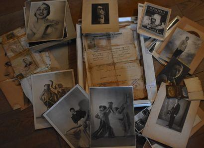 LOT : Documents sur artiste russe de cabaret,...