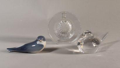 LOT DAUM : FIGURINE oiseau (Long. 11,5 cm)...