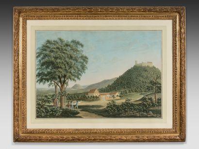 ECOLE FRANÇAISE du XVIIIe siècle : La Collation...
