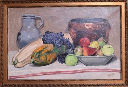 Henri GIRARDOT : Nature morte aux fruits....