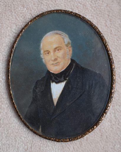 MINIATURE ovale : Portrait de S. E. Dn Alejandro...