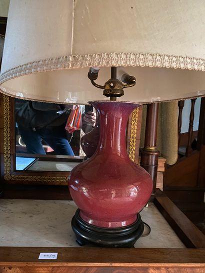 LAMPE céramique sang-de-bœuf moderne. Haut....