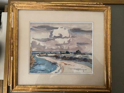 André PIGOURY (1901-1984) : Paysage breton...