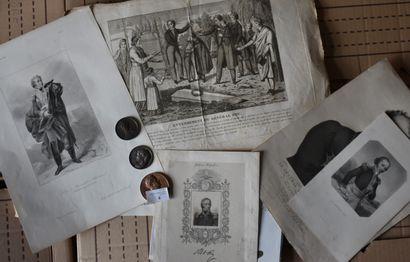 Général FOY : Lot gravures iconographies,...