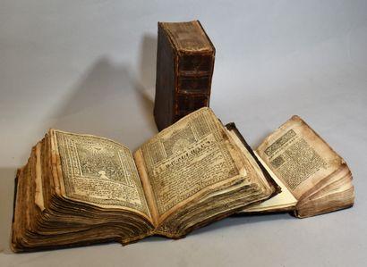 TROIS VOLUMES arméniens du XVIIIe siècle...