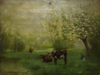 ECOLE FRANÇAISE du XIXe siècle : Le petit...