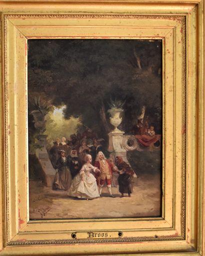Jean-Jacques BROOS (1833-1882) : La Diseuse...