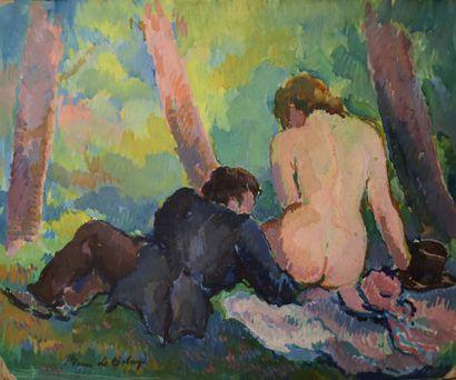 Pierre de BELAY (1890-1947) : Déjeuner sur...