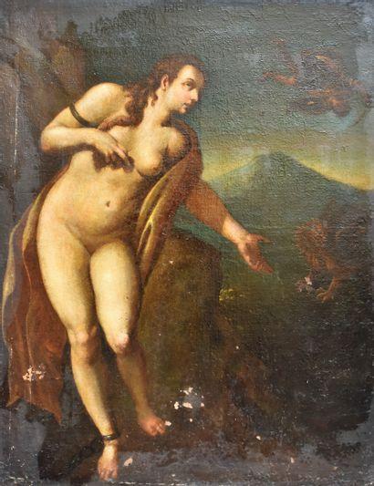 ECOLE ITALIENNE du XVIIIe siècle : Persée...