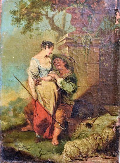 Attribué à Januarius ZICK : Le berger et...
