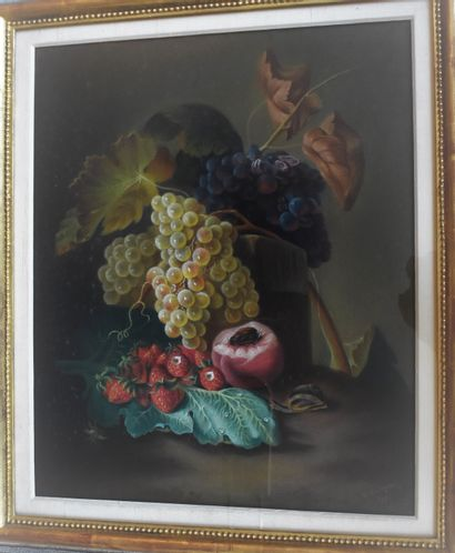 ECOLE FRANÇAISE du XIXe siècle : Nature morte...