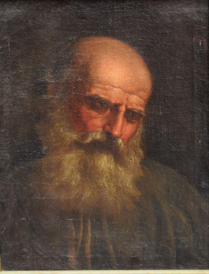ECOLE ITALIENNE du XVIIIe siècle : Tête d'homme...