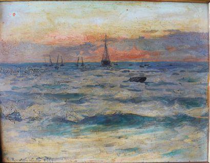 Léon-Gustave RAVANNE (1854-1904) : Paysage...